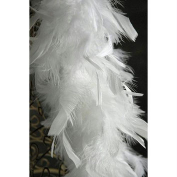 Christmas Feather Boa Garland - Not Lit