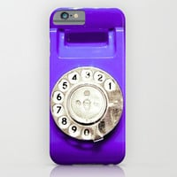 OLD PHONE - PURPLE EDITION - for iphone iPhone & iPod Case by Simone Morana Cyla