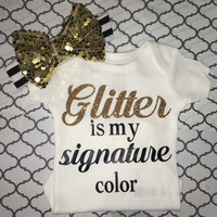 Glitter is my signature color TOP ONLY