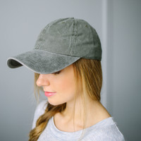 Mineral Wash Cap - Olive | Called To Surf