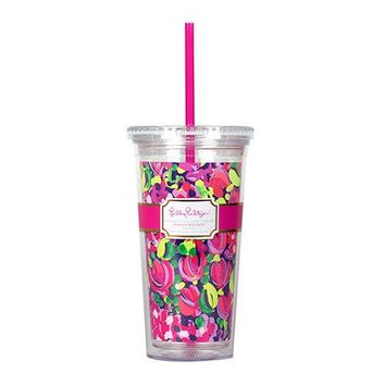 Tumbler with Straw in Wild Confetti by Lilly Pulitzer