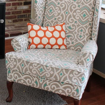 Reupholstered Wing Chair Accent Chair