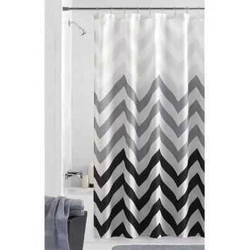 Mainstays Flux Fabric Shower Curtain - Walmart.com