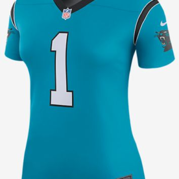 Nike NFL Color Rush Legend Edition Carolina Panthers Cam Newton Women Jersey