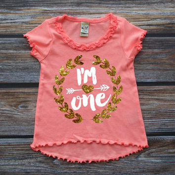 First Birthday Shirt Baby Girl Party Cake Smash Outfi