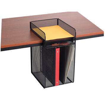 Onyx Black Metal Mesh Vertical Hanging Desk Storage | Overstock.com Shopping - The Best Deals on Drawer Organizers