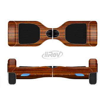 The Bright Red Ebony Woodgrain Full Body Skin Set for the Smart Drifting SuperCharged Transportation iiRov