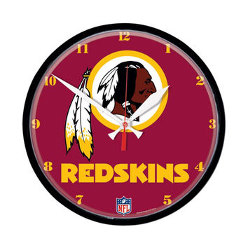 Washington Redskins NFL Round Wall Clock
