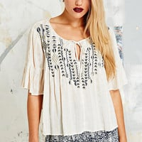 Ecote Pintuck Willow Blouse - Urban Outfitters