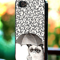 Silicone - Plastic - Because Cat Grumpy - iPhone 4/4s, 5, 5s, 5c, Samsung S3, S4