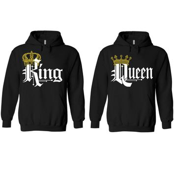 Royal King and Queen Black Hoodie