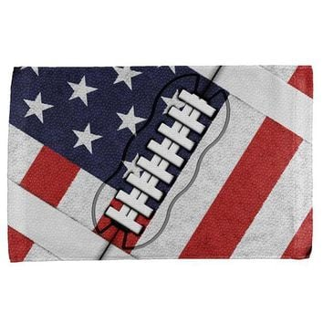 DCCKU3R 4th of July American Flag Patriot Football All Over Hand Towel