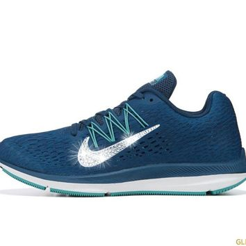 Nike Zoom Winflo 5 + Crystals - Blue Force/Green Aby