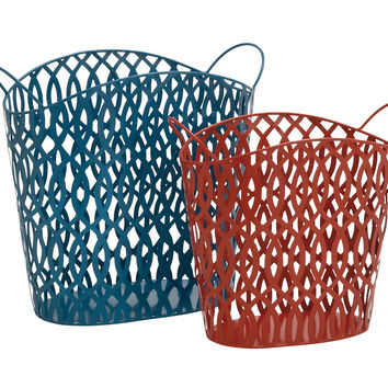 Matchless in Beauty Metal Basket Set Of 2