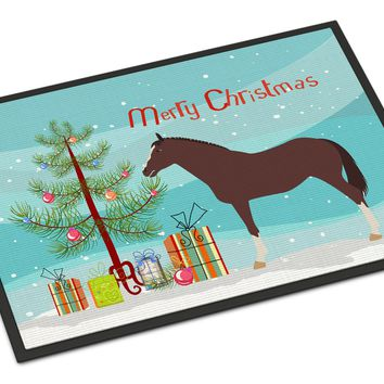 English Thoroughbred Horse Christmas Indoor or Outdoor Mat 24x36 BB9280JMAT