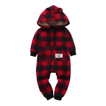 Newborn Baby Jumpsuit Autumn Spring Baby Rompers Baby Boy Girl Clothes Cute Truck Romper Sheep Fleece Infant Babies Clothes