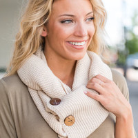 Changing Winds Infinity Scarf, Cream