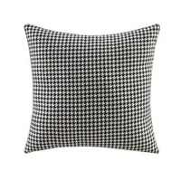 Coaster  Set of 2 black and white abstract pattern print 18'' x 18'' throw pillows . Measures 18'' x 18''.