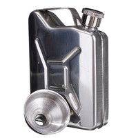 Hot 5oz Stainless Steel Funnel Liquor Funnel Wedding Party Bar Drink Bottle Hip Flask Liquor Whisky Bottle Drinkware Alcohol Cap