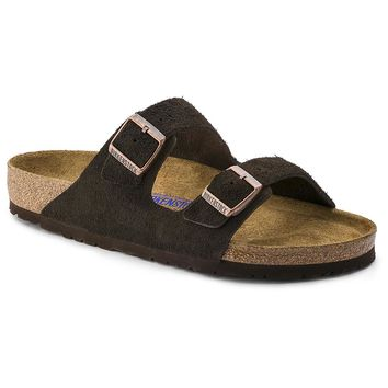 Arizona Sandal in Mocha Suede Leather with Soft Footbed by Birkenstock