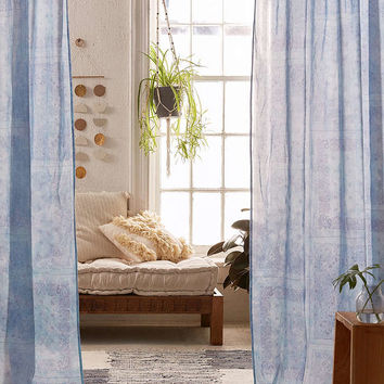 Bandana Dye Patch Curtain - Urban Outfitters