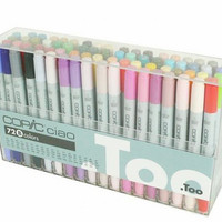 Too. Copic Marker Set - Ciao 72 Colors Pen Set B, Japan Drawing Markers, Anime, Animation, Comic Manga Art Supplies - Non-Toxic, Entry Model