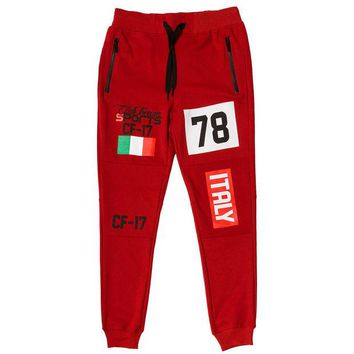 ONETOW Club Foreign Sport Italy Series Pants Slim Fit Red