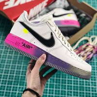 Off White X Nike Air Force 1 Low 07 Elemental Rose Balck Fashion Shoes - Best Online Sale