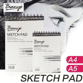 ICIK272 Bianyo 110g A4 A5 Sketch Book Stationery Notepad SketchBook For Paiting Drawing Diary Journal Creative Notebook Gift