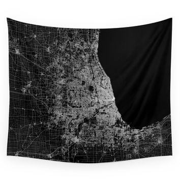 Society6 Chicago Map Wall Tapestry