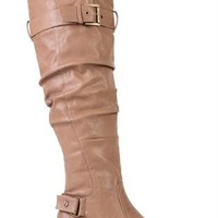 Over the Knee Riding Boot with Buckles