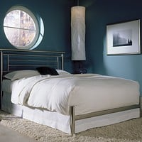 Queen size Modern Metal Bed in Brushed Satin Finish