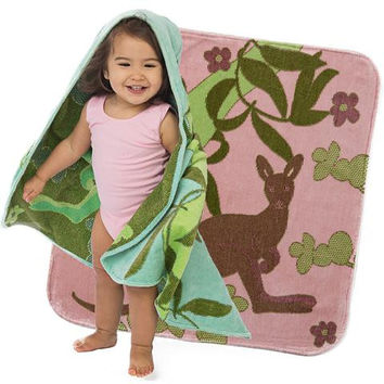 Baby & Toddler Organic Hooded Towel - Kangaroos