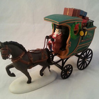 Vintage Retired Department 56 Fezziwig Delivery Wagon/With original box/Mint condition/Christmas collectible