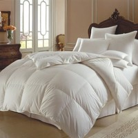 JR Home Super Soft White Down Duvet Cover Insert Alternative Comforter, Queen
