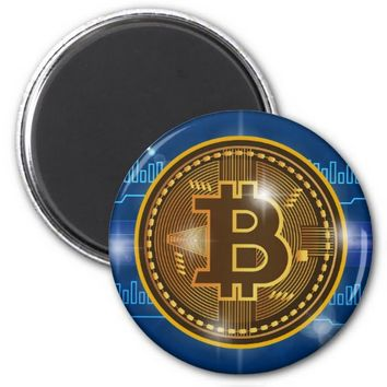 Cool Bitcoin logo and graph Design Magnet