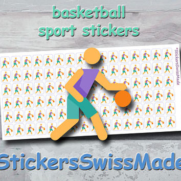 PLANNER STICKER || basketball || sport || small colored icon | for your planner or bullet journal