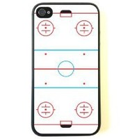 iPhone 4 Case - Silicone Case Protective iPhone 4/4s Case- Ice Hockey Rink
