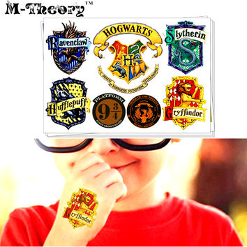 M-theory Harry School Hogwartss Signet Makeup Temporary Tattoos Henna Body Art Tatto Flash Tatoos Sticker Toys Decoration Decals