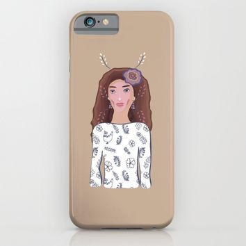 WOMAN IN A FOLK DRESS iPhone & iPod Case by Yaansoon | Society6