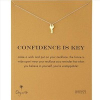 Day-First™ Gift New Arrival Shiny Jewelry Stylish Alloy Lock Necklace With Card [6345011585]