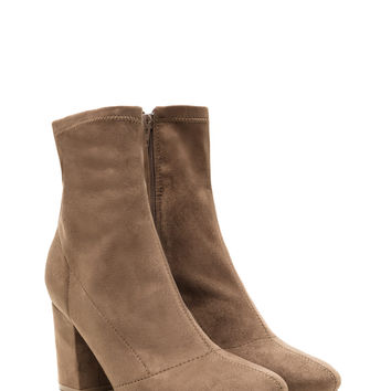 All My Days Faux Suede Chunky Booties GoJane.com