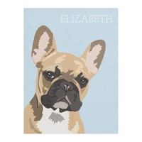 French Bulldog | Cute Frenchie Name Fleece Blanket