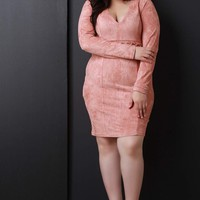 Laced At The Waist Long Sleeve Dress
