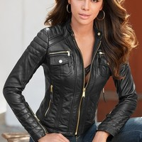 Boston Proper Leather jacket