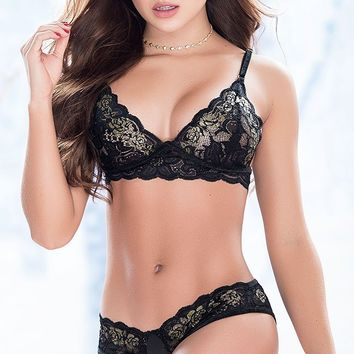 Lacy Surprise Bra and Panty Set