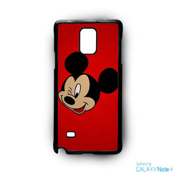 Mickey Mouse Red Background Wallpaper for Samsung Samsung Galaxy Note 2/Note 3/Note 4/Note 5/Note Edge phonecases
