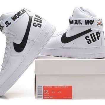 CREYNW6 Originals Nike AIR FORCE One 1 HIGH SUPREME SP AF1 HI Running Sport Casual Shoes 698696 Sneakers