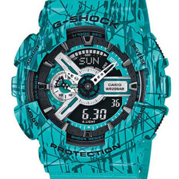 Casio G-Shock Big Case Series - Blue Concrete - Magnetic Resistant - 200m