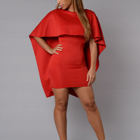 Cape May Dress - Red